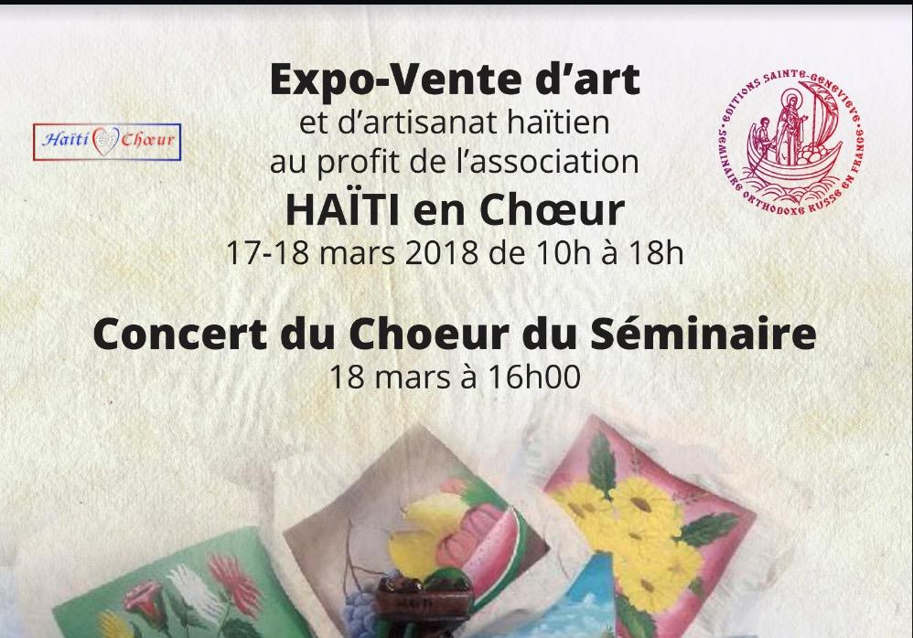 Haïti en choeur : expo-vente et concert du choeur du Séminaire orthodoxe russe