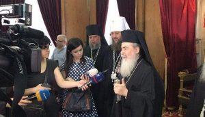 Le patriarche de Jérusalem apporte son soutien au métropolite Onuphre et à l'Église d'Ukraine