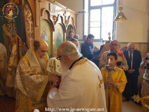 À l'occasion du dimanche du Paralytique, le patriarche de Jérusalem s'est rendu à Reineh