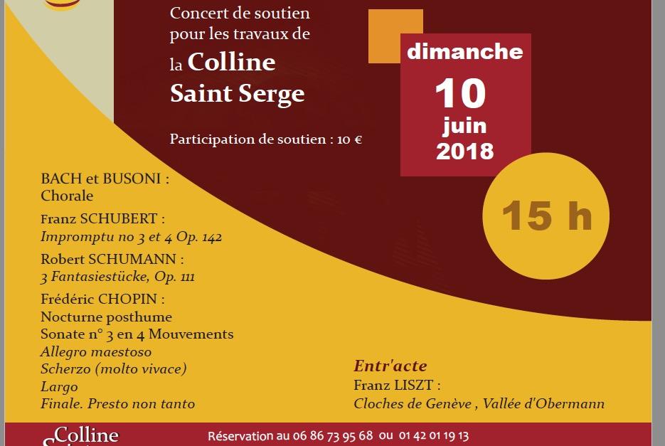 Concert de soutien pour les travaux de la Colline Saint-Serge