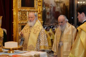 Concelebration between Russian and Serbian Patriarchs