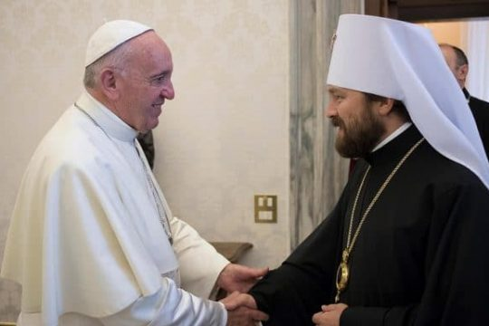 Pope Francis supports unity of Russian Orthodox Church