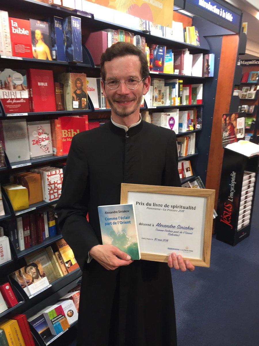 Le P. Alexandre Siniakov a reçu le prix du livre de spiritualité 2018