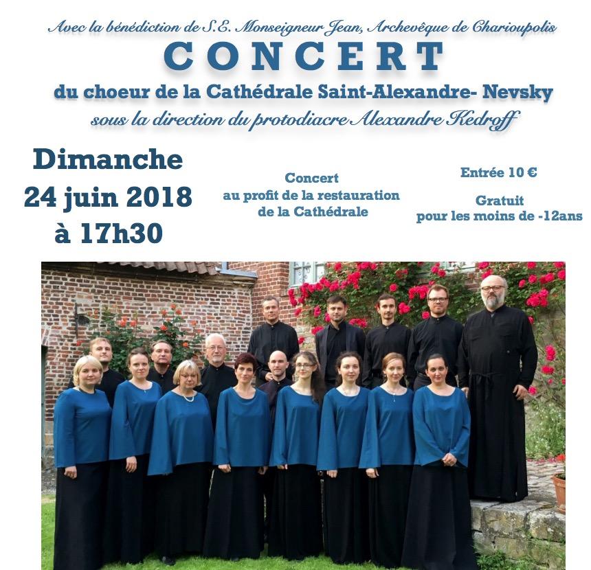 Concert du chœur de la cathédrale Saint-Alexandre-Nevsky