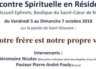 Rencontre de l'association Saint Silouane l'Athonite à la Maison Ephrem, Basilique du Sacré-Coeur de Montmartre du 5 au 7 octobre 2018