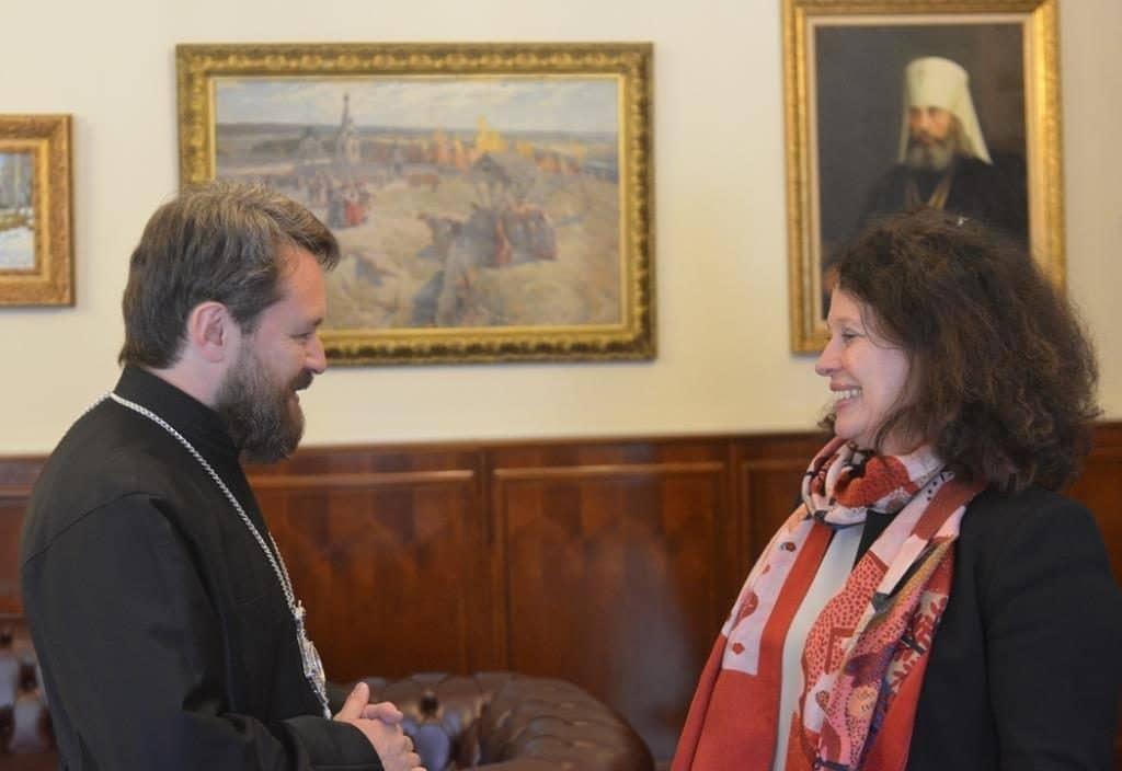 A Moscou, rencontre du métropolite Hilarion de Volokolamsk et de l'ambassadrice de France en Russie