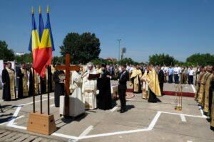 Le patriarche Daniel a posé la première pierre de l'église qui sera située dans l'enceinte du ministère roumain de la Défense