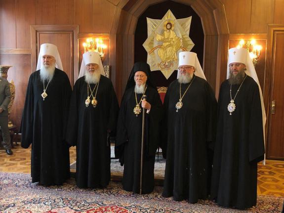 Une délégation de l'Église orthodoxe d'Ukraine s'est rendue au Phanar sur l'invitation du patriarche Bartholomée