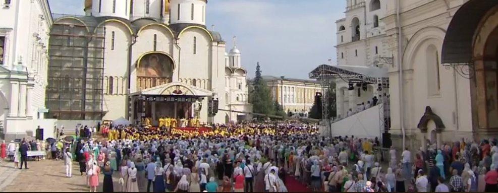 Vidéos : la célébration à Moscou aujourd'hui du 1030e anniversaire du baptême de la Rus'