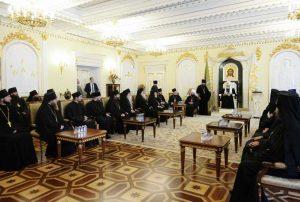 Allocution du patriarche de Moscou Cyrille aux délégations des Églises orthodoxes locales venues à Moscou pour la célébration du baptême de la Rus'