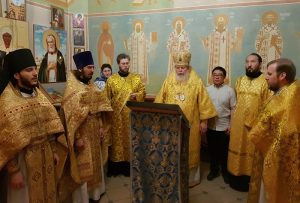 Prayers recited in Chinese in the church of Kazan Station in Moscow