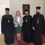 Rencontre des représentants du CROCEU avec la ministre autrichienne des Affaires étrangères