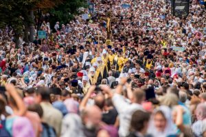 250,000 faithful of the Ukrainian Canonical Church took part in the procession in honor of the 1,030th anniversary of the baptism of Russia