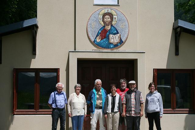 Bénédiction de la mosaïque du Christ de la chapelle du camp de l'ACER