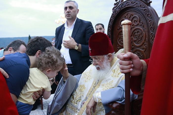 Le 54e baptême collectif du patriarche Élie de Géorgie