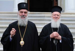 "Patriarch Irinej of Serbia addressed a letter of protest to Patriarch Bartholomew of Constantinople about the Ukrainian ""autocephaly"" and other similar schismatic entities"
