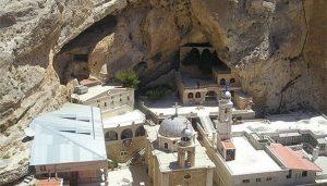 Le monastère orthodoxe Sainte-Thècle à Maaloula (Syrie) a rouvert ses portes
