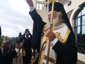 Le pape et patriarche d'Alexandrie Théodore II a posé la première pierre d'un séminaire au Kenya