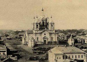 Fouilles à Tambov en vue de la reconstruction de la cathédrale, détruite en 1939