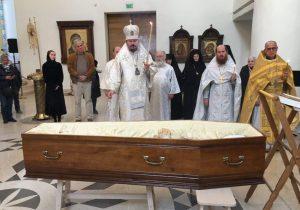 Les funérailles de l'archimandrite Barsanuphe, à Paris et à Grassac en Charente