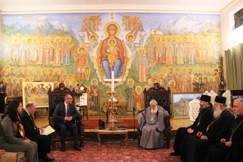 Le président du Parlement ukrainien a rendu visite au patriarche de Géorgie Élie II
