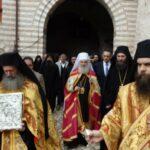 Le patriarche de Serbie Irénée visite le Mont Athos