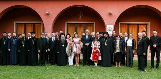 Visite du président de la Roumanie au siège du diocèse orthodoxe roumain d'Italie