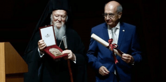 Le Parlement grec récompense le patriarche œcuménique pour son travail relatif à l'environnement