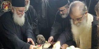 Palestine: le corps de saint Sabbas le Sanctifié placé dans un nouveau reliquaire
