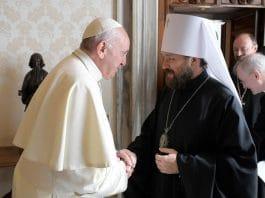 Le métropolite Hilarion de Volokolamsk a été reçu au Vatican par le pape François