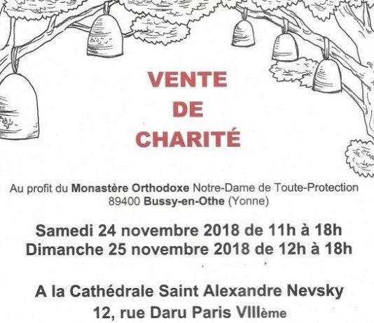 Paris, les 24 et 25 novembre : une vente de charité au profit du monastère orthodoxe Notre-Dame de Toute-Protection de Bussy en Othe