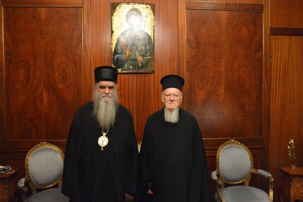 Le métropolite du Monténégro Amphiloque a rencontré le patriarche œcuménique Bartholomée