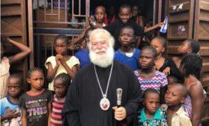 Le pape et patriarche d'Alexandrie Théodore II a posé la première pierre d'une école primaire à Freetown (Sierra Leone)