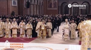 Patriarch Bartholomew and Patriarch Daniel of Romania celebrated the first Divine Liturgy in Bucharest new Cathedral