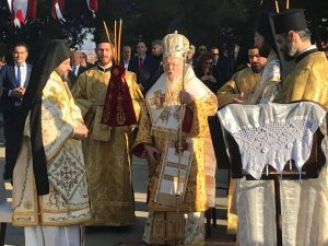 Liturgie patriarcale à Sélybrie, la ville de saint Nectaire d'Égine