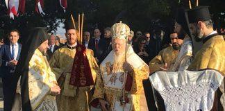 Liturgie patriarcale historique à Sélybrie, la ville de saint Nectaire d'Égine