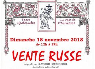 Une vente russe au profit de «La Voix de l'orthodoxie» à Paris le 18 novembre