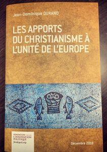 «Les apports du christianisme à l'unité de l'Europe»