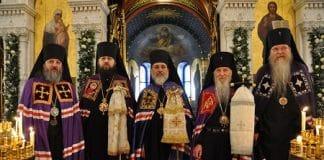 Consécration épiscopale de l'archimandrite Alexandre (Echevarria) en la cathédrale orthodoxe russe de Genève (Église russe hors-frontières)