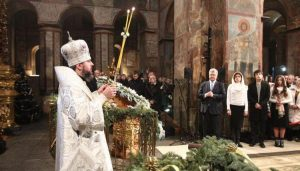Patriarch Kirill of Moscow commemorated during the Nativity Divine Liturgy in Kyiv