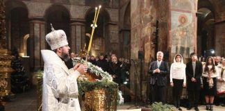 Le patriarche Cyrille de Moscou a été commémoré lors de la liturgie de Noël à Kiev