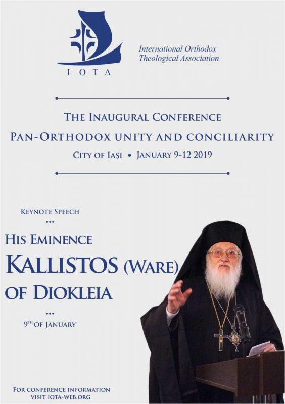 Conférence de l'association internationale de théologie orthodoxe à Iași – du 9 au 13 janvier
