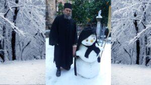 Snowy Christmas celebration on Mount Athos
