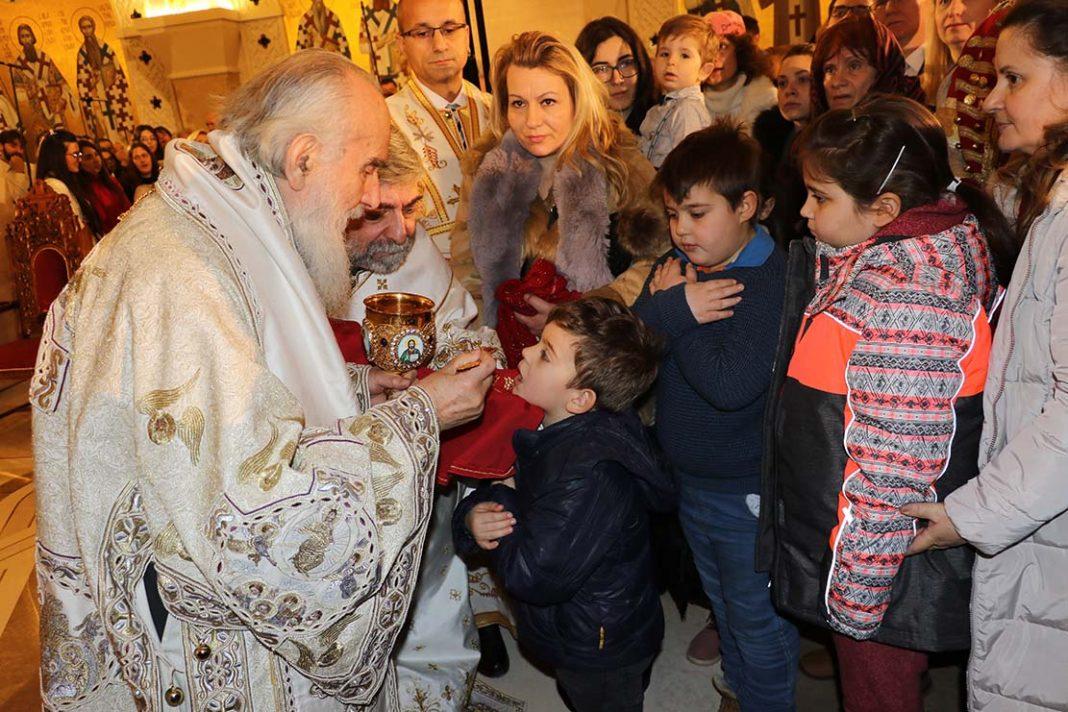 Liturgie de la Nativité à Belgrade (vidéo)