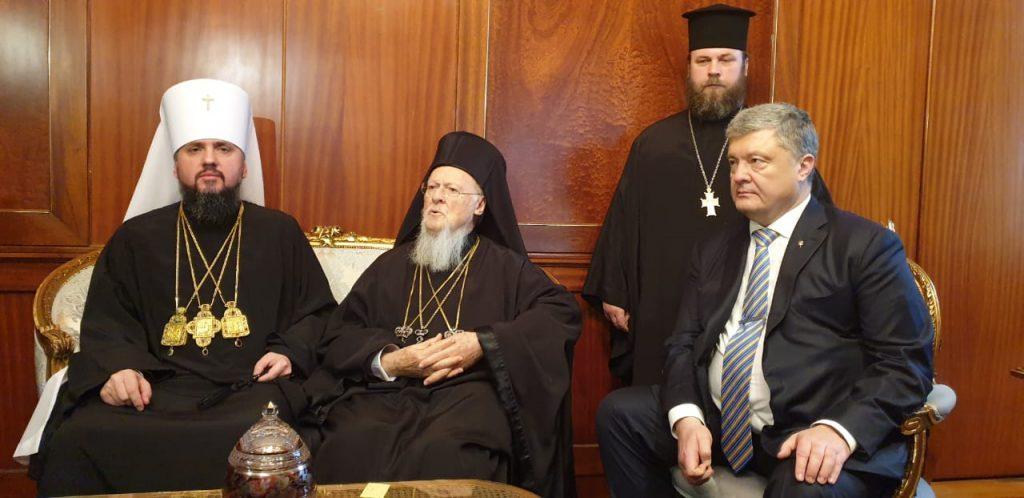 Signature du tomos d'autocéphalie de «l'Église orthodoxe d'Ukraine»