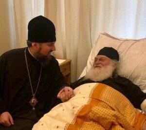 Kiev : le métropolite Épiphane (Doumenko) a rendu visite à l'archimandrite Éphrem