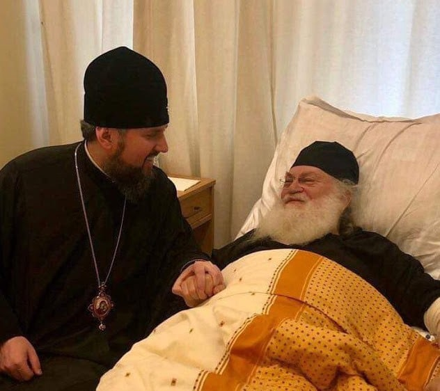 Kiev : le métropolite Epiphane (Dumenko) a rendu visite à l'archimandrite Éphrem