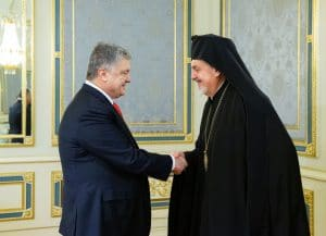 A Constantinople Patriarchate delegation met with President Poroshenko