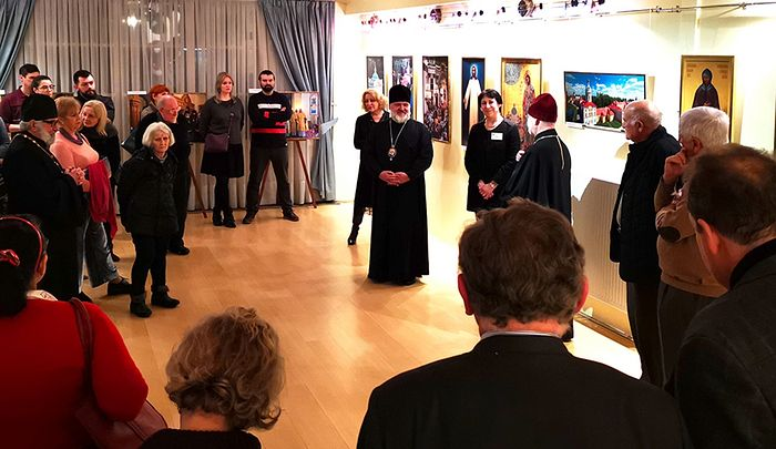 An exhibition on St. Alexander Nevsky Lavra in Brussels