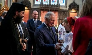 The Prince of Wales visited one of the Romanian Orthodox parishes in London